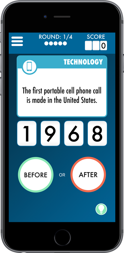 Eventology: The Game of History Trivia for iPhone